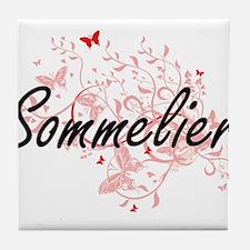 Sommelier Artistic Job Design with Bu Tile Coaster