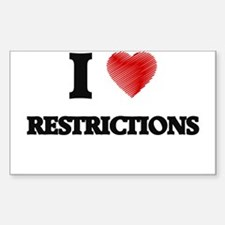 I Love Restrictions Decal