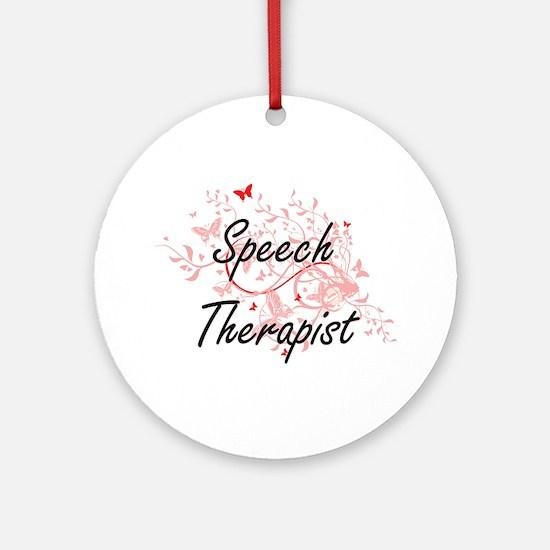 Speech Therapist Artistic Job Desig Round Ornament