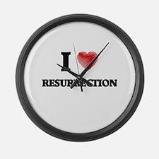 I Love Resurrection Large Wall Clock
