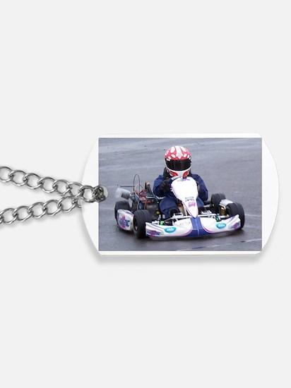 Unique Go kart racing Dog Tags