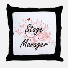 Stage Manager Artistic Job Design wit Throw Pillow