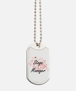 Stage Manager Artistic Job Design with Bu Dog Tags