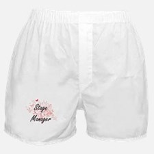 Stage Manager Artistic Job Design wit Boxer Shorts