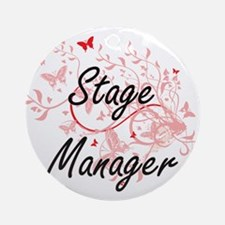 Stage Manager Artistic Job Design w Round Ornament