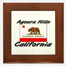Agoura Hills California Framed Tile