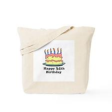 Happy 34th Birthday Tote Bag
