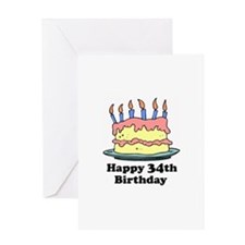 Happy 34th Birthday Greeting Card