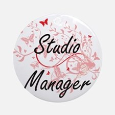 Studio Manager Artistic Job Design Round Ornament