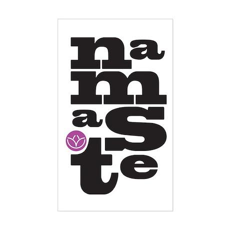 Namaste Letteringg Rectangle Sticker