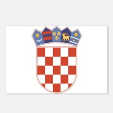Croatia Arms Postcards (Package of 8)