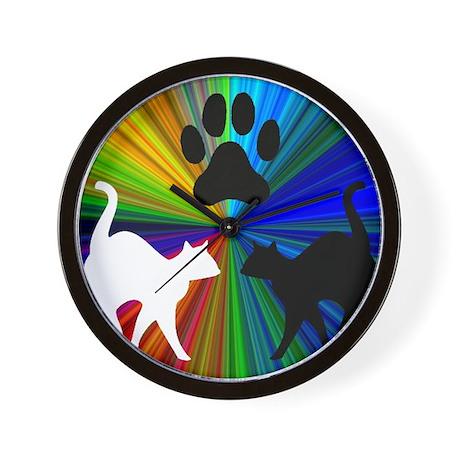 RAINBOW PAW CATS Wall Clock