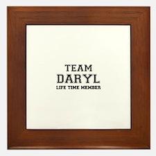 Team DARYL, life time member Framed Tile