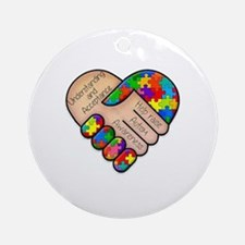 Cute Autism awareness Round Ornament