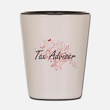 Tax Adviser Artistic Job Design with Bu Shot Glass