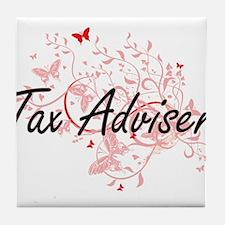 Tax Adviser Artistic Job Design with Tile Coaster