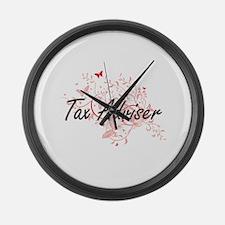 Tax Adviser Artistic Job Design w Large Wall Clock