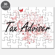 Tax Adviser Artistic Job Design with Butter Puzzle