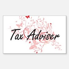 Tax Adviser Artistic Job Design with Butte Decal