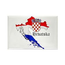 Croatia Flag Map Rectangle Magnet
