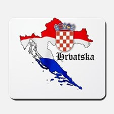 Croatia Flag Map Mousepad