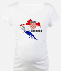Croatia Flag Map Shirt