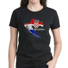 Croatia Flag Map Tee