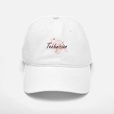 Technician Artistic Job Design with Butterflie Baseball Baseball Cap