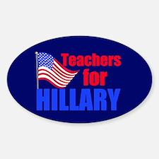 Teachers for Clinton Decal
