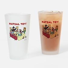 Matzal Tov Drinking Glass