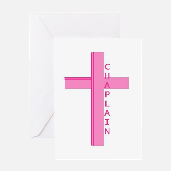 Chaplain Pink Greeting Cards
