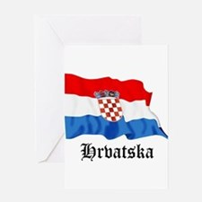 Croatia Flag Greeting Card