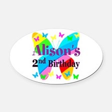 2ND BIRTHDAY Oval Car Magnet
