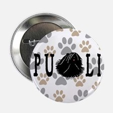"Dread Text Puli Dog 2.25"" Button"