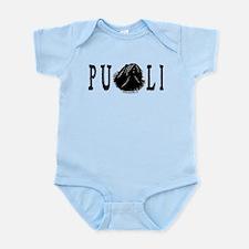 Dread Text Puli Dog Infant Bodysuit