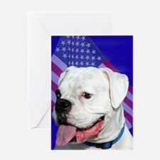 Patriotic Boxer Dog Greeting Cards
