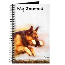 German Shepherd Jumping Journal
