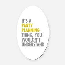 Cute Event planner Oval Car Magnet