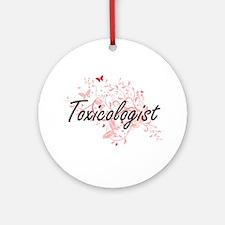Toxicologist Artistic Job Design wi Round Ornament