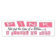PINK Not Just A Color 2 Bumper Bumper Sticker