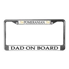 Pomeranian Dad License Plate Frame