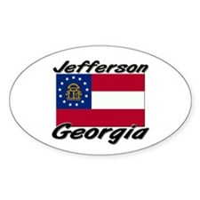 Jefferson Georgia Oval Decal