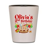Personalized 2nd birthday Shot Glasses