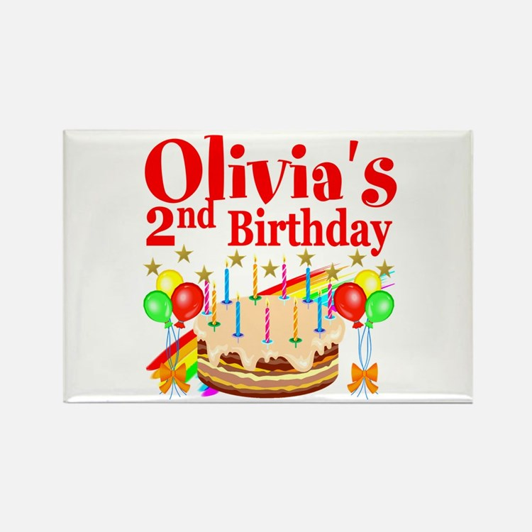 2ND BIRTHDAY Rectangle Magnet