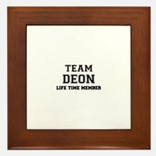 Team DEON, life time member Framed Tile