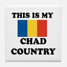 This Is My Chad Country Tile Coaster
