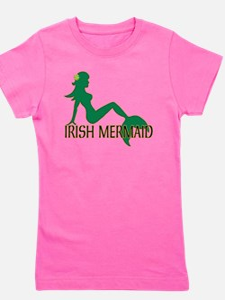 Irish Mermaid White Crop T-Shirt