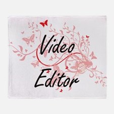 Video Editor Artistic Job Design wit Throw Blanket