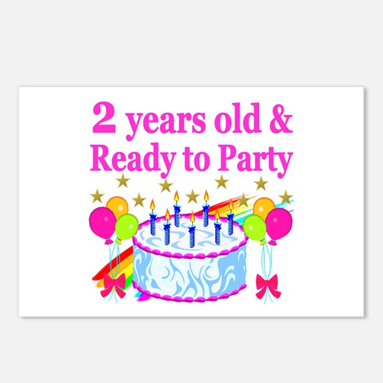2ND BIRTHDAY Postcards (Package of 8)