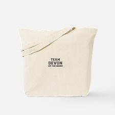 Team DEVON, life time member Tote Bag